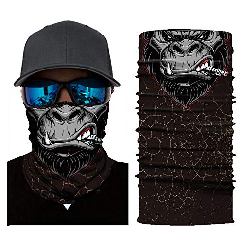 CapsA Face Shield for Men Novelty Bandanas Face mask for Music Festivals Raves Riding Outdoors Cycling Motorcycle Head Scarf Neck Balaclava Headband Sand Control Sunscreen Face mask Halloween ()