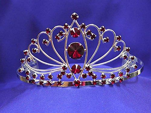 Ruby Red Crystal Rhinestone Tiara