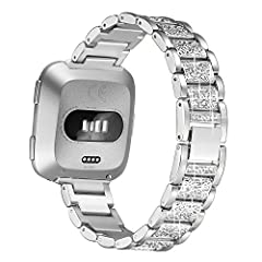 bayite Replacement Band for Fitbit Versa/Versa Lite Chic New Ways to Hit Your Step Goal in Style.Folding clasp design; Comes with a tool to resize the band.100% satisfaction and RISK FREE warranty: 1 year free replacement or full refund witho...