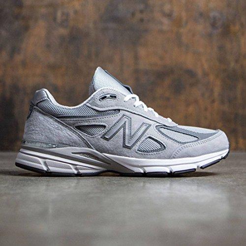 New Balance Men's M990V4 Running Shoe, Grey/Castle Rock, 10 D US