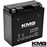 KMG YT14B-BS Battery For Yamaha 1700 XV17P Road Star Warrior 2002-2008 Sealed Maintenace Free 12V Battery High Performance SMF OEM Replacement Powersport Motorcycle ATV Snowmobile Watercraft