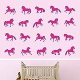 Cheval Silhouettes-Fille Boy Chambre de jeux nursery (Grand)
