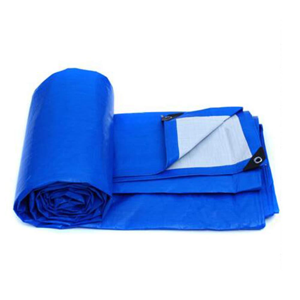 QIDI ターポリン レインターポリン シェード 防水 青 アウトドア 厚い 無味 (サイズ さいず : 8 * 6m) 8*6m  B07H9NGQMZ