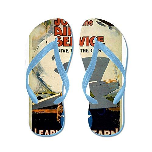 CafePress Join The Air Service Giver ER The Gun - Warren Kei - Flip Flops, Funny Thong Sandals, Beach Sandals Caribbean Blue