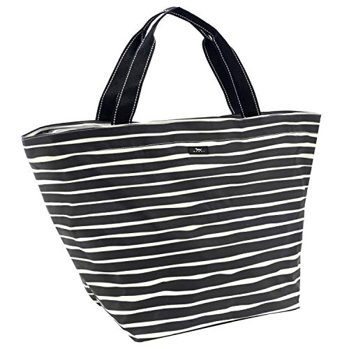 Woven Carry On - SCOUT Weekender Travel Tote Carry On Bag, Internal Zippered Pouch, Water Resistant, Zips Closed, Ren Noir
