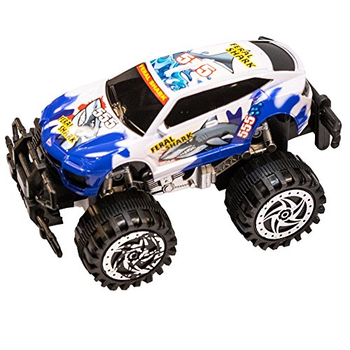 TukTek Kids First Friction Powered Super Shark Jacked Up Mini Monster Truck Toy