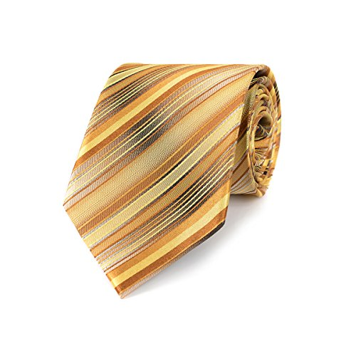 LUISDAN Stripe Tie Jacquard Woven Microfiber Formal Men's Neckties - Various Styles