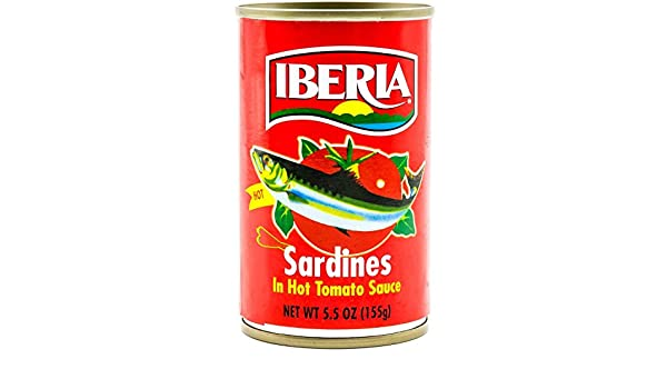 Iberia Sardines In Hot Tomato Sauce, 5.5 oz, Sardinas en Salsa de Tomate Picante (1 can): Amazon.com: Grocery & Gourmet Food