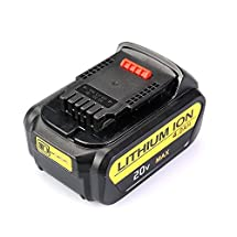 Flylinktech 4000mAh 20V Max XRP Lithium Replacement Battery for Dewalt 20-Volt DCB205 DCB204 DCB203