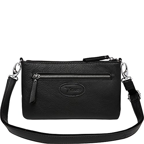 Leather Leather Distressed Vicenzo Stacey Clutch Black Crossbody SUqZT