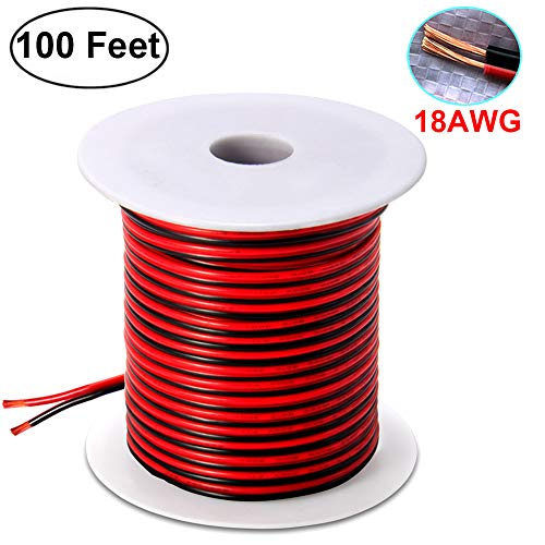 100FT 18 AWG Gauge Oxygen Free Copper Electrical Wire, Premi