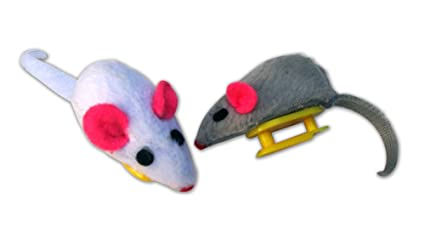 Cat Dancer Replacement Mice for Mouse in the House Cat Toy, 2-Count