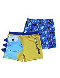 Kid's Boys UPF 50+ Board Shorts Free Swim Cap(2 Pack)