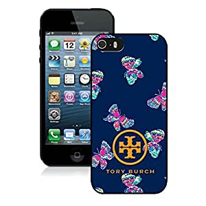 Fahionable Custom Designed iPhone 5S Cover Case With Tory Burch 25 Black Phone Case