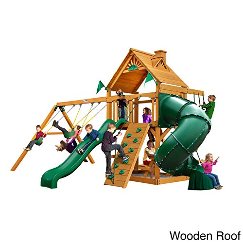Gorilla Playsets Mountaineer Cedar Swing Set with Amber P...