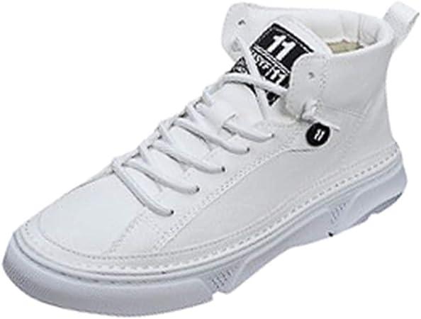 RYTEJFES Botas Informales De Caña Alta Retro para Hombre Zapatos De Herramientas con Cordones De Suela Gruesa Salvaje Zapatos De Herramientas con Cordones Y Plataforma Salvaje: Amazon.es: Hogar