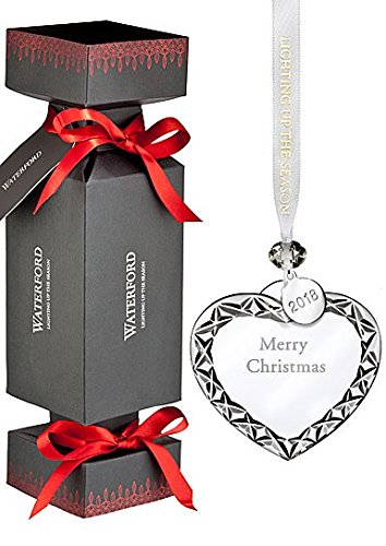 Merry Christmas Heart - Waterford Cracker w/Heart Merry Xmas Ornament