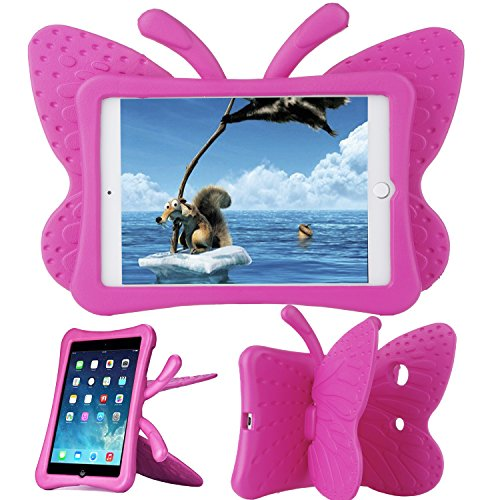 Xboun Butterfly Series EVA Shock Proof Protective Case for Apple iPad Mini 1/Mini 2/Mini 3 - Rose