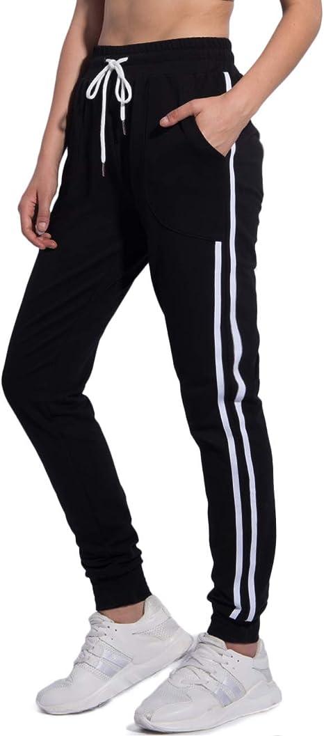 Amazon.com: PULI - Pantalones de chándal para mujer con ...