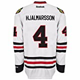 Niklas Hjalmarsson Chicago Blackhawks Road White Premier Jersey by Reebok Select Size: Large
