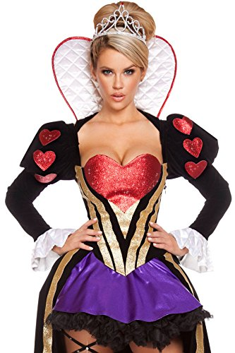 Heartless Queen Costumes - Sultry Heartless Queen Costume [FREE STANDARD SHIPPING]SIZE: ONE SIZE/FREE SIZE