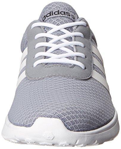 adidas NEO Herren Lite Racer Lifestyle Runner Sneaker Grau / Laufweiß / Schwarz