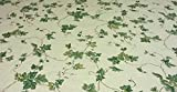 Fitted Elastic Edge Round Vinyl Tablecloth Table Cover fits 36'' to 46'' Antique Ivy
