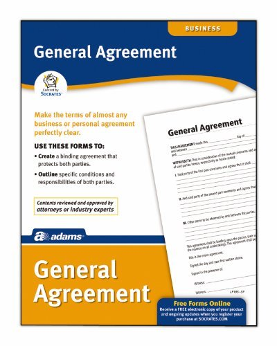 Adams Agreement To Sell Real Estate Form, 8.5 x 11 Inch, White (LF120) by (Agreement To Sell Real Estate)