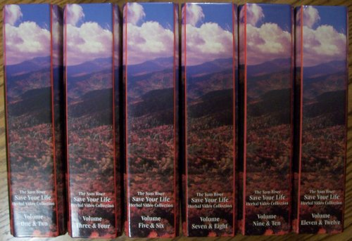 (The Sam Biser Save Your Life Herbal Video Collection, Volumes One Through Twelve [ 6 Clamshell Cases; Each Case Containing 2 VHS Video Tapes, with User Manual)