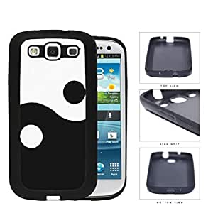 Yin Yang Skulls With Black And White Houndstooth Rubber Silicone TPU Cell Phone Case Samsung Galaxy S3 SIII I9300