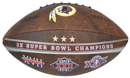 (Gulf Coast Sales NFL Washington Redskins Commemorative 3X Champ Football, 9-inches)