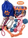 Dog Rope Toys- Dog Chew Toys - Dog Toys for Medium and Large Dogs - Set of 8 XXL Dog Rope Toys for Chewing, Tug of War and Teething with Bonus Storage Bag