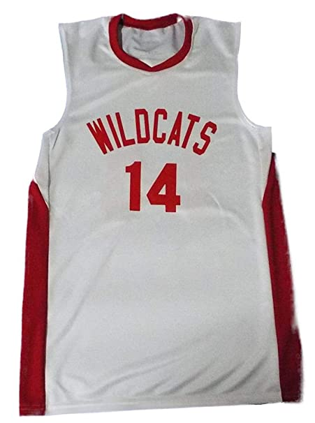 Image Unavailable. Image not available for. Color  Boriz Zac E Troy Bolton  14 East High School Wildcats White Basketball Jersey ... 390d3c3be