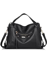 Realer Designer Concise and Vogue PU Leather Ladies Handbag with Exquisite Decorative Zipper On The Front and Back