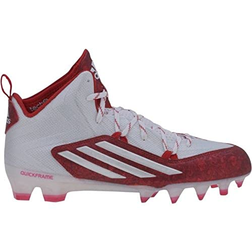 online store 5444c c8fa8 adidas Mens Crazyquick 2.0 Mid Football Cleats (10.5,  WhitePlatinumUnired)