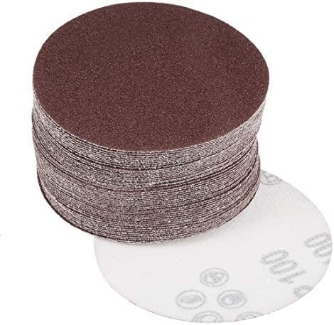 - 4-Inch Sanding Disc, 100 Grains, Aluminum Oxide Sandpaper, zurück Sandpaper für Sanders, 50 Pieces