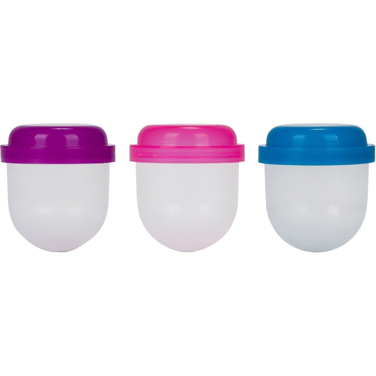 1'' Acorn Capsules: Pink, Blue, Purple Vending Machine Balls, Empty Cases for Gumball Containers, Toy Stands, and Party Favors or Bath Bombs, Rainbow Colored Lids and Clear Bottoms Girls by Candy Machines (Image #2)