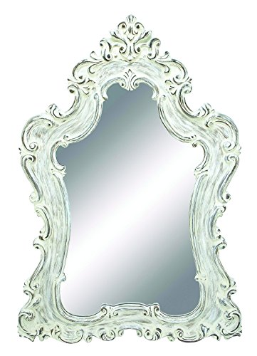 Benzara Mirror, Silver Color with Traditional Design