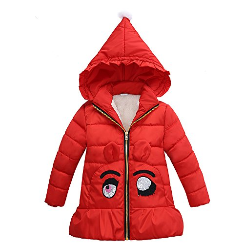 Evelin LEE Little Girls Cute Wich Hat Hooded Jacket Halloween Costume Christmas Outerwear Red-6T