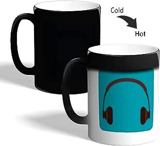 كوب القهوة السحري، اسود،  نظارة سماعات رأس