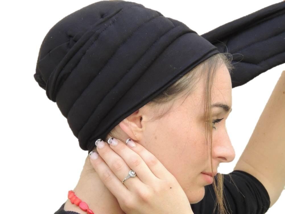 Sara Attali Design Tichel Volumizer Head Scarves, Chemo Volumizing Super Plus Black by Sara Attali Design (Image #1)