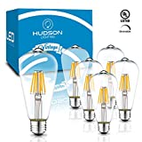 Dimmable LED Edison Light Bulbs: 6 Watt, 4000K Daylight White Lightbulbs - 60W Equivalent - E26 Base - Vintage Light Bulb Set - 6 Pack