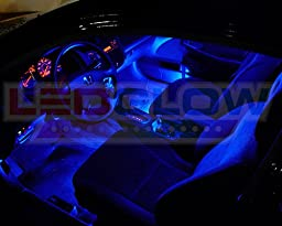 LEDGlow 4-Piece Single Color LED Interior Underdash Lighting Kit - Blue