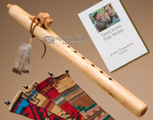 Native American Flute -Natural Buffalo & Bag by Jonah Thompson Flutes