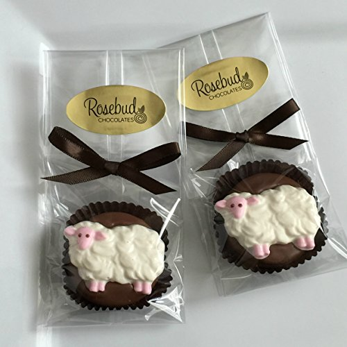 12 SHEEP Milk Chocolate Covered Oreo Cookie Party FAVORS (One Dozen) (Rosebud Farms)