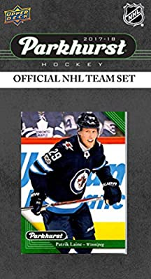 Winnipeg Jets 2017 2018 Upper Deck PARKHURST Series Factory Sealed Team Set including Blake Wheeler, Dustin Byfuglien, Patrik Laine, Jack Roslovic Rookie Card