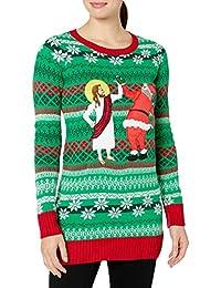 Blizzard Bay Womens Women's Ugly Christmas Santa Sweater Sweater