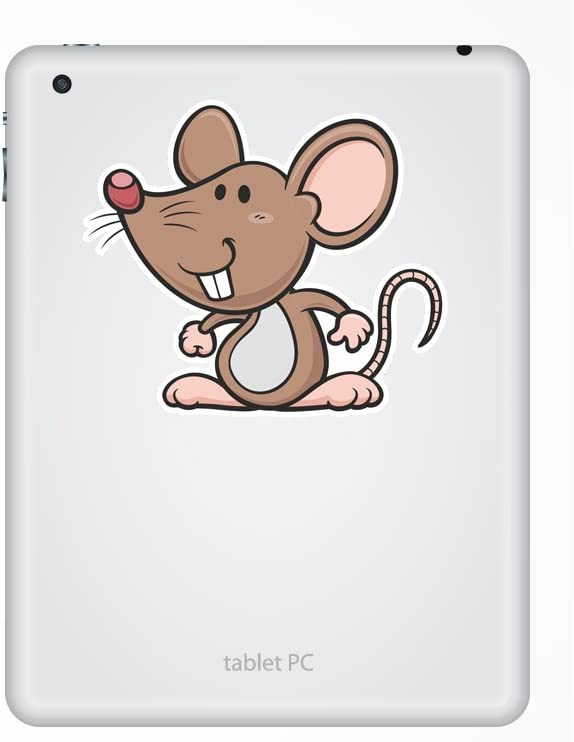 2 x Cartoon Mouse Vinyl Stickers Travel Luggage #7334