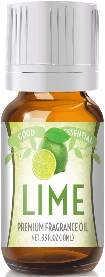 Lime Scented Oil by Good Essential (Premium Grade Fragrance Oil) - Perfect for Aromatherapy, Soaps, Candles, Slime, Lotions, and More!
