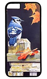 Blue Jay Bird Masterpiece Limited Design PC Black Case for iphone 6 by Cases & Mousepads by ruishername